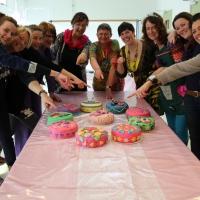 Vrijgezellenfeest, taarten workshop